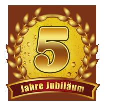 Danke für 5 Jahre Treue - unsere Homepage feiert 5jähriges